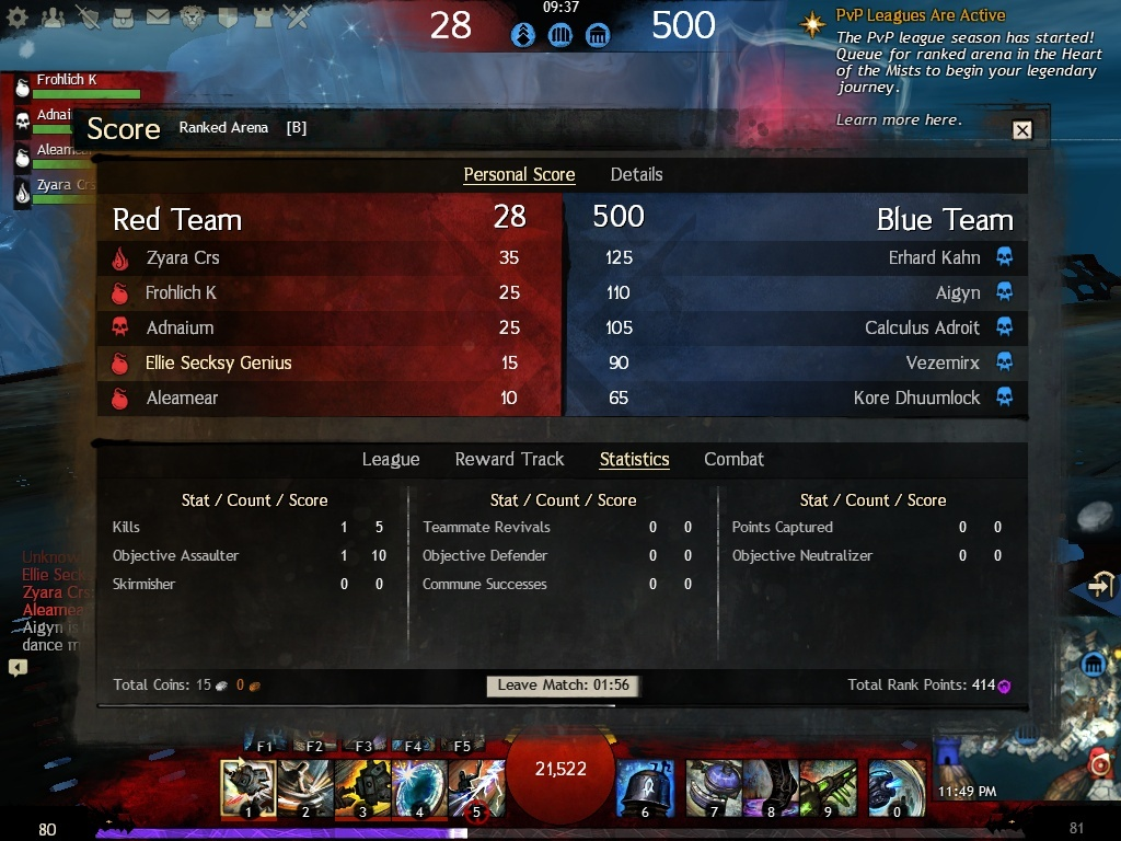 Ranked matchmaking